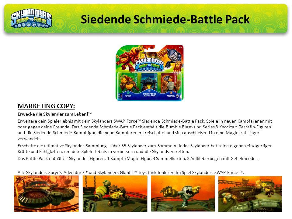Erwecke die Skylander zum Leben! Erweitere dein Spielerlebnis mit dem Skylanders SWAP Force Siedende Schmiede-Battle Pack. Spiele in neuen Kampfarenen