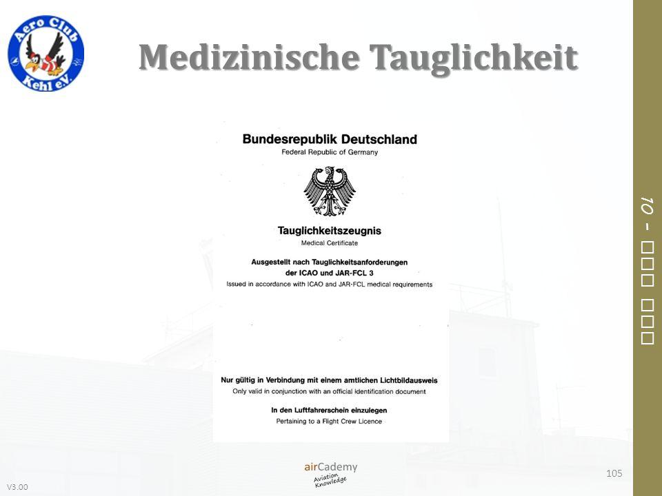 V3.00 10 – Air Law Medizinische Tauglichkeit 105