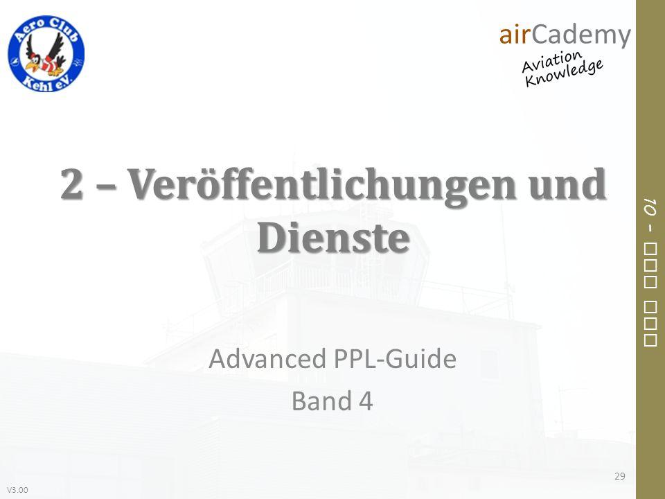 V3.00 10 – Air Law 2 – Veröffentlichungen und Dienste Advanced PPL-Guide Band 4 29