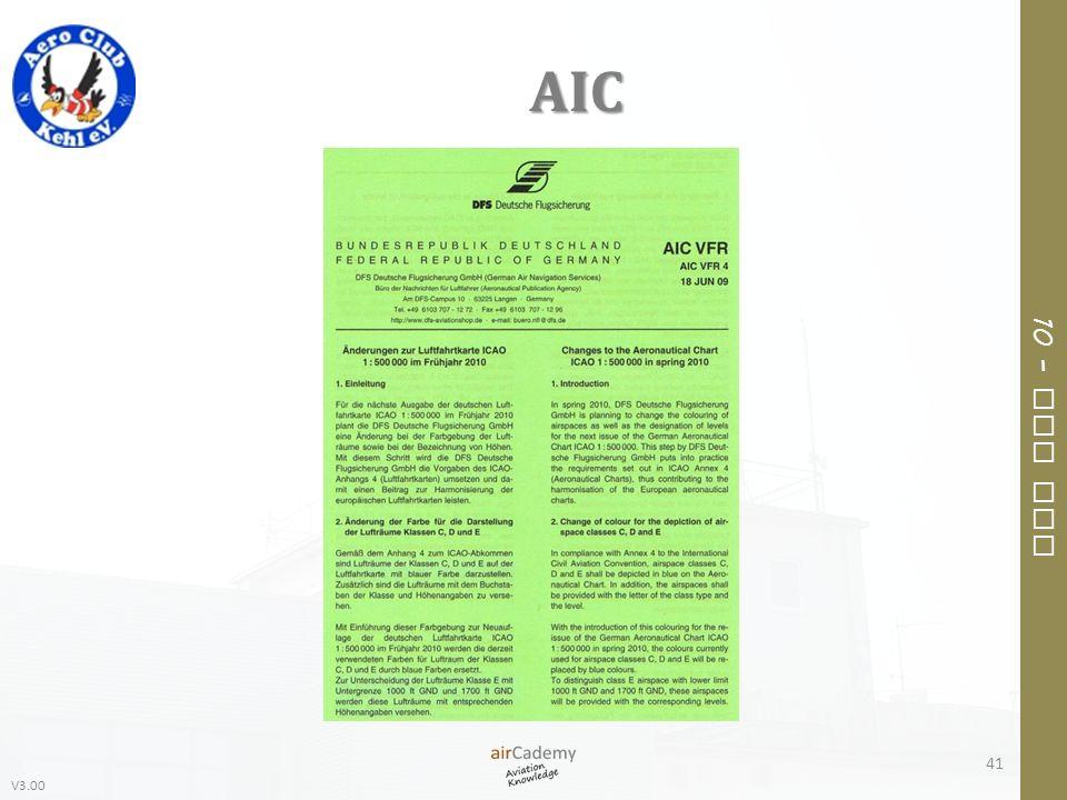 V3.00 10 – Air Law AIC 41