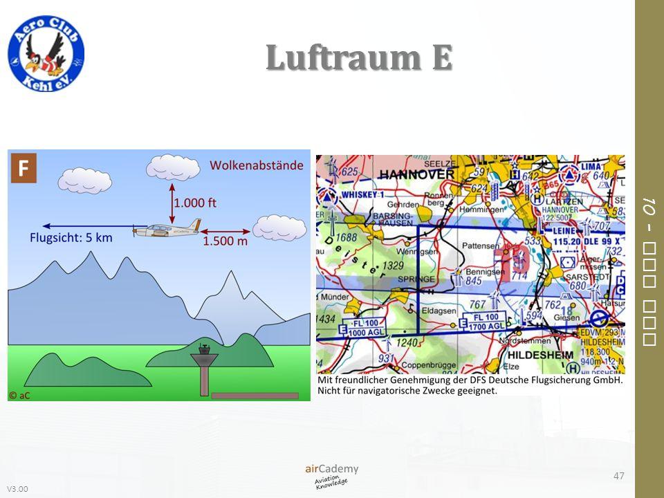 V3.00 10 – Air Law Luftraum E 47
