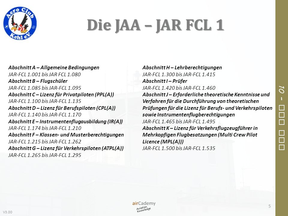 V3.00 10 – Air Law 6 – Sprechfunkverfahren Advanced PPL-Guide Band 4 116
