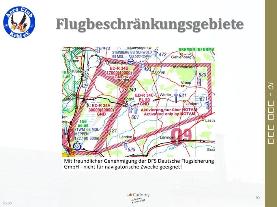 V3.00 10 – Air Law Flugbeschränkungsgebiete 53