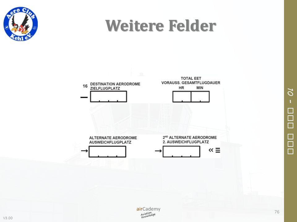 V3.00 10 – Air Law Weitere Felder 76