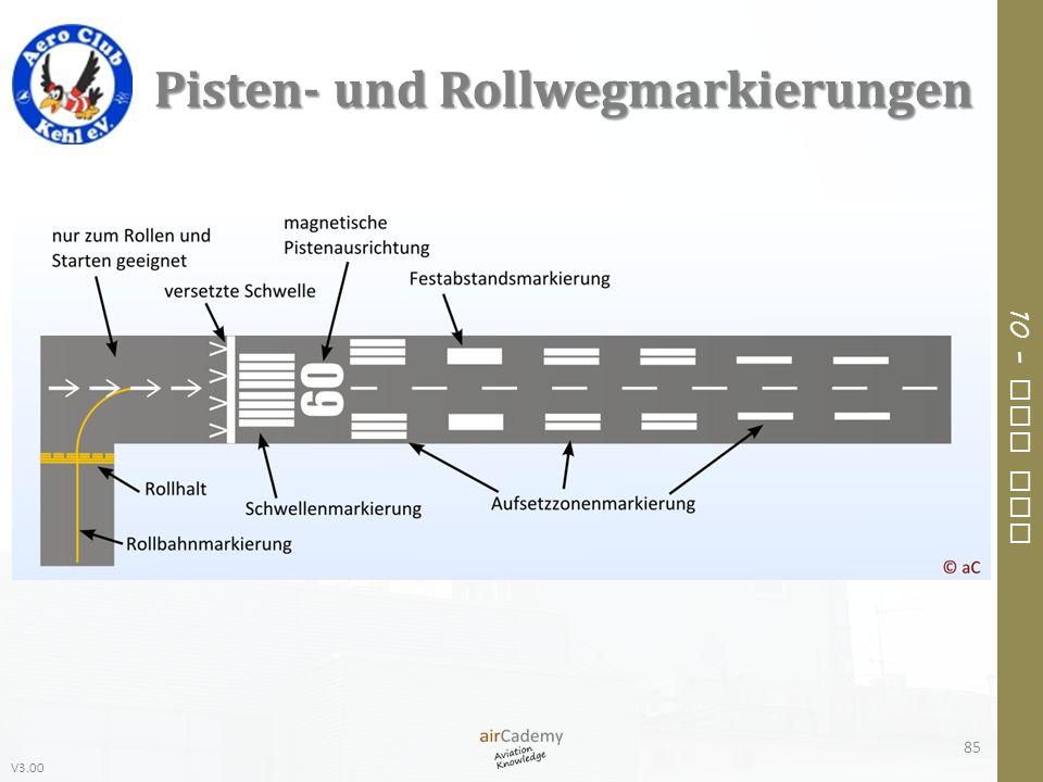 V3.00 10 – Air Law Pisten- und Rollwegmarkierungen 85