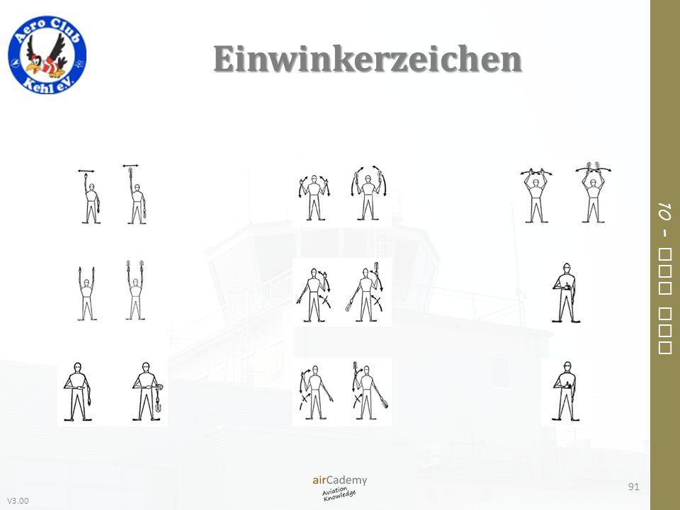 V3.00 10 – Air Law Einwinkerzeichen 91
