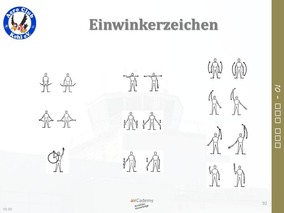 V3.00 10 – Air Law Einwinkerzeichen 92