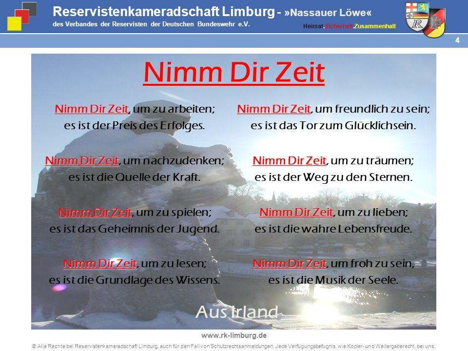 4 © Alle Rechte bei Reservistenkameradschaft Limburg, auch für den Fall von Schutzrechtsanmeldungen.