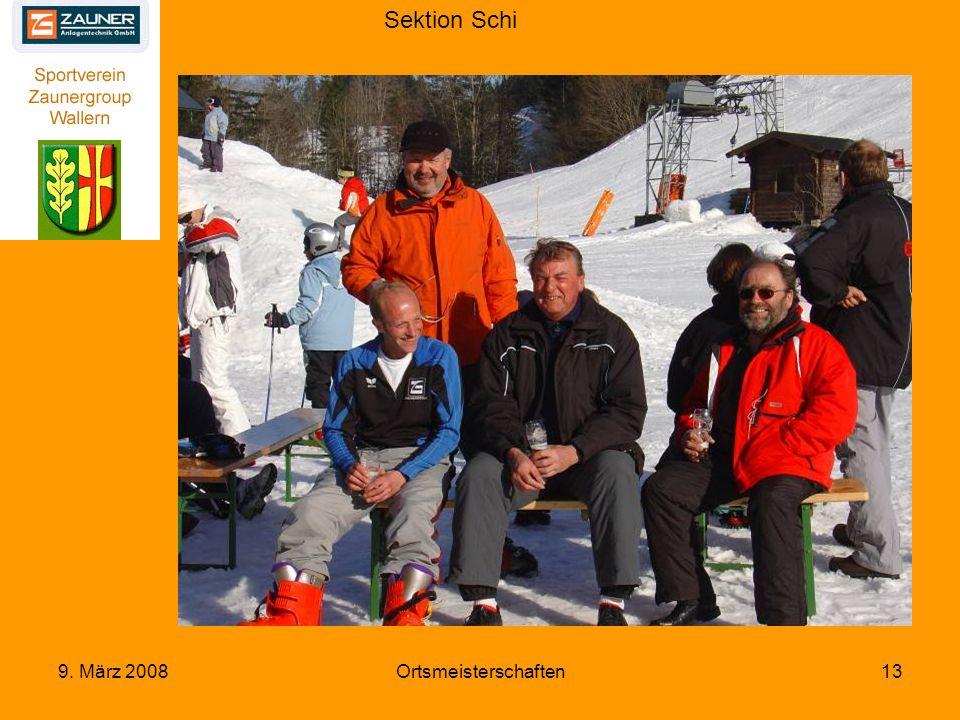 Sektion Schi 9. März 2008Ortsmeisterschaften13