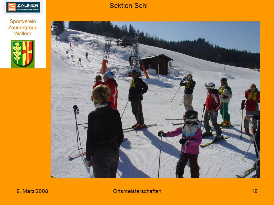 Sektion Schi 9. März 2008Ortsmeisterschaften19