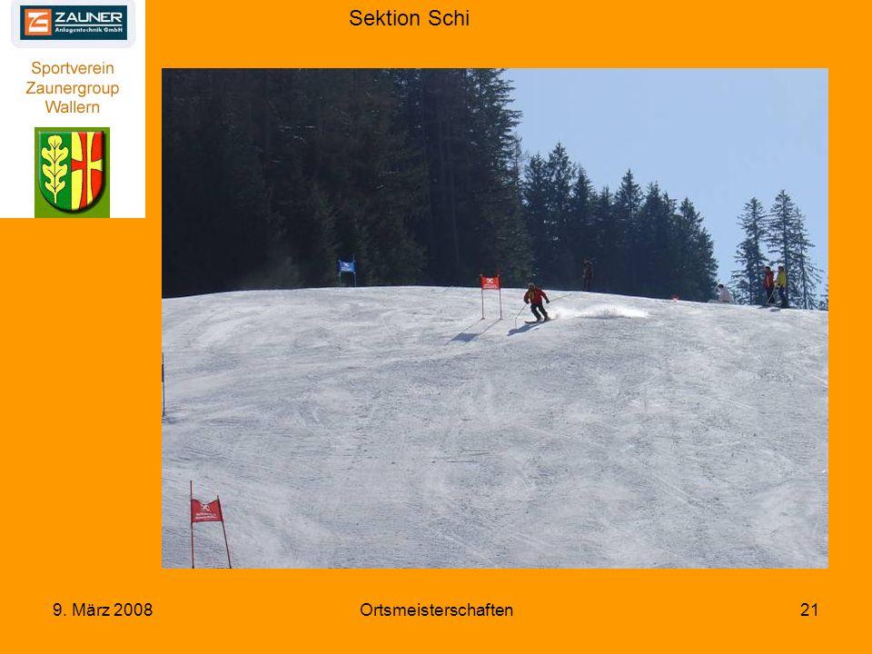 Sektion Schi 9. März 2008Ortsmeisterschaften21