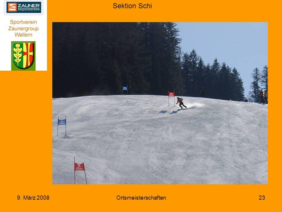 Sektion Schi 9. März 2008Ortsmeisterschaften23