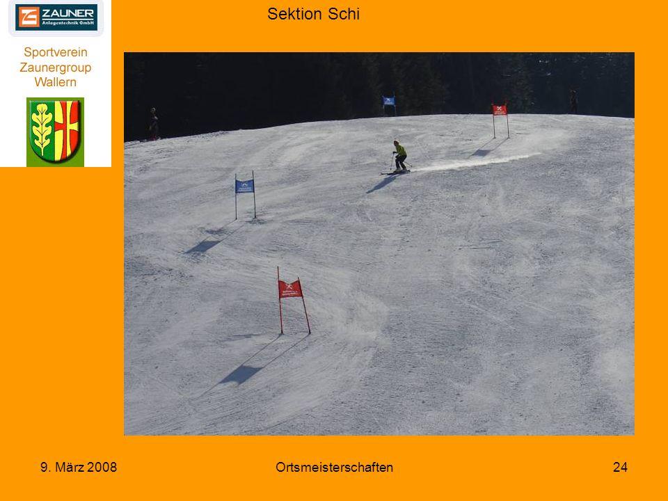 Sektion Schi 9. März 2008Ortsmeisterschaften24