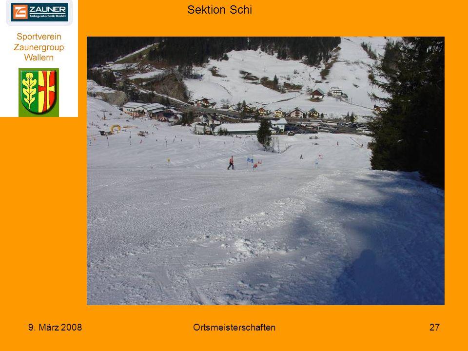 Sektion Schi 9. März 2008Ortsmeisterschaften27