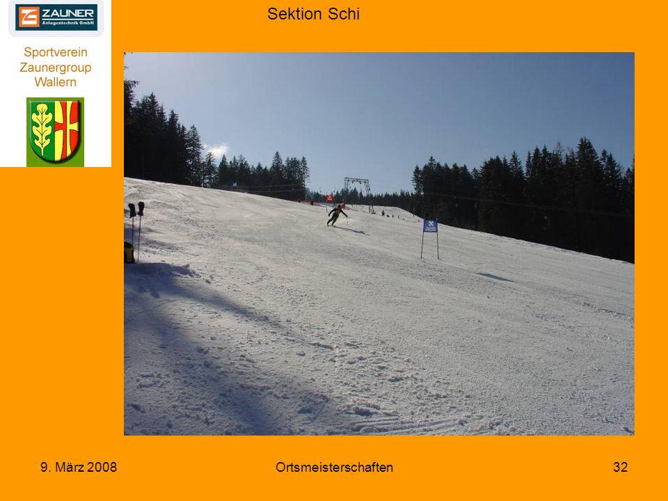 Sektion Schi 9. März 2008Ortsmeisterschaften32