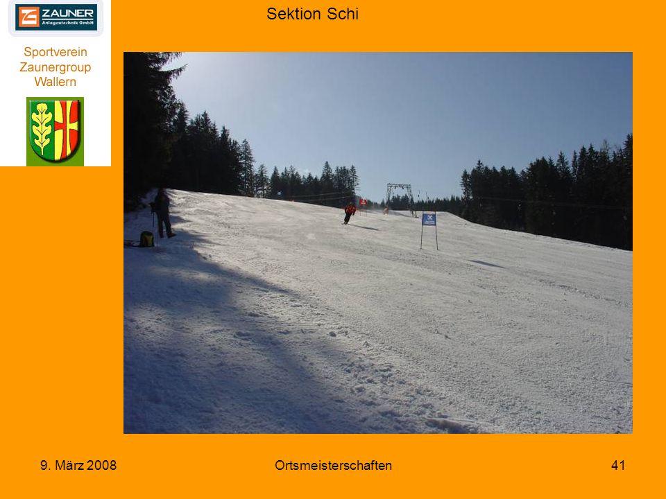 Sektion Schi 9. März 2008Ortsmeisterschaften41