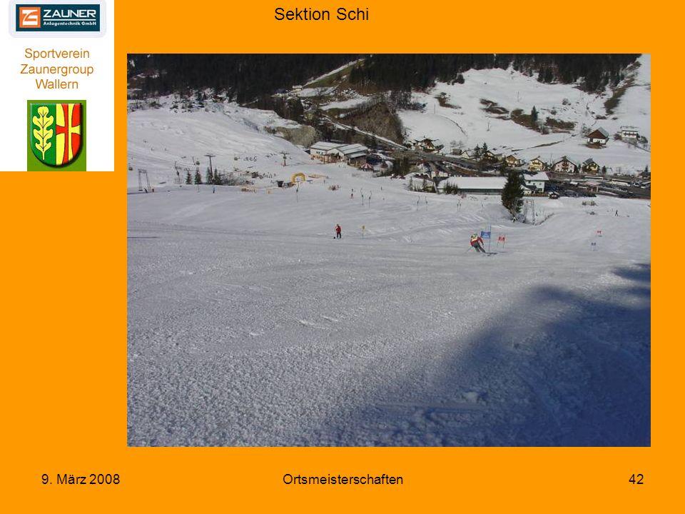 Sektion Schi 9. März 2008Ortsmeisterschaften42