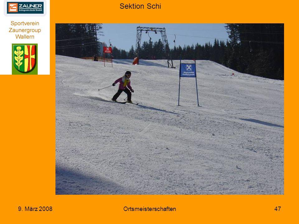 Sektion Schi 9. März 2008Ortsmeisterschaften47