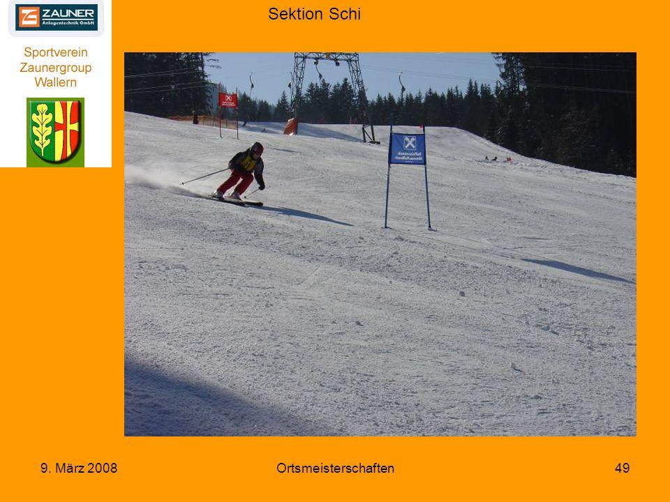 Sektion Schi 9. März 2008Ortsmeisterschaften49