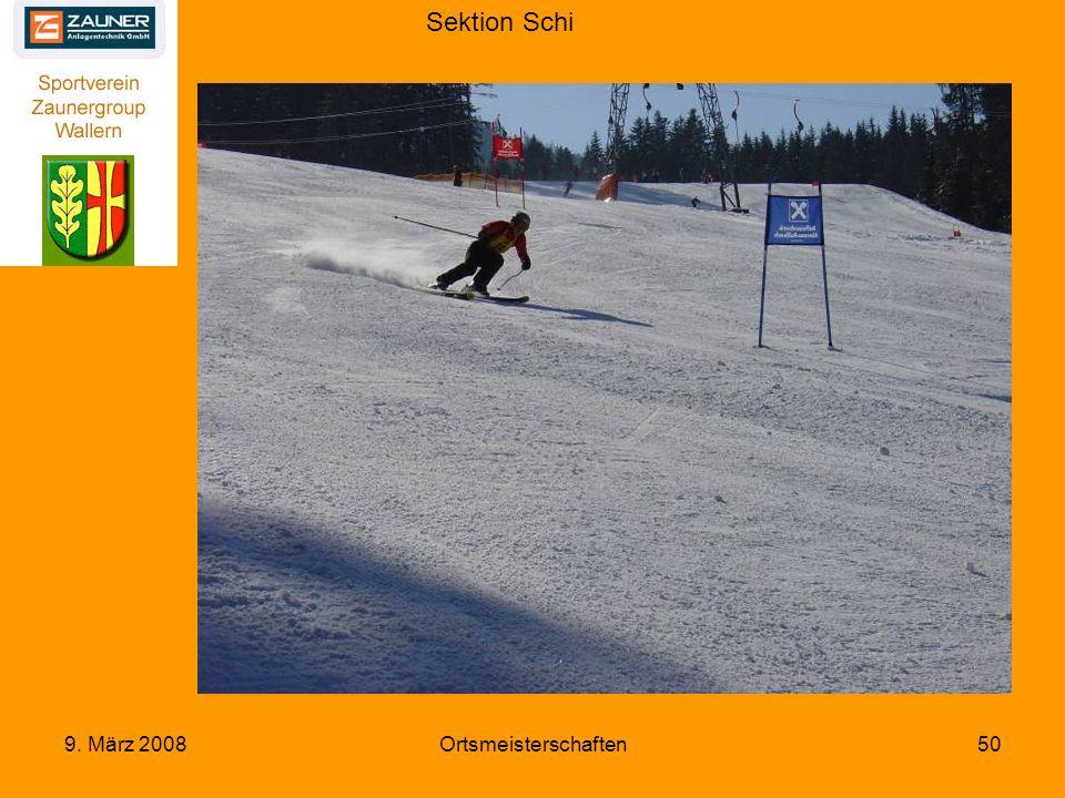 Sektion Schi 9. März 2008Ortsmeisterschaften50