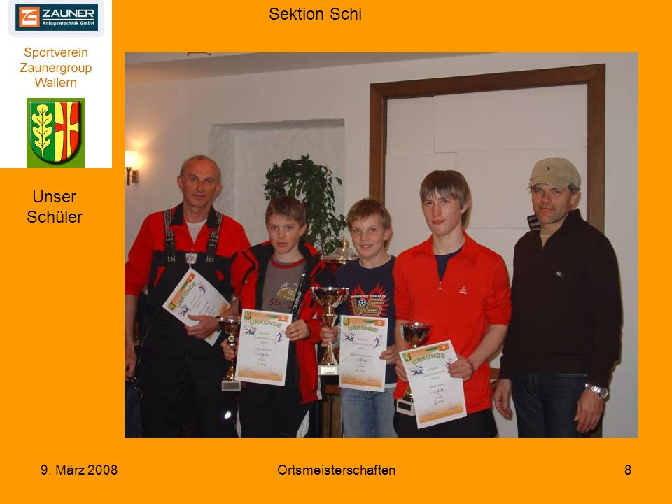 Sektion Schi 9. März 2008Ortsmeisterschaften29