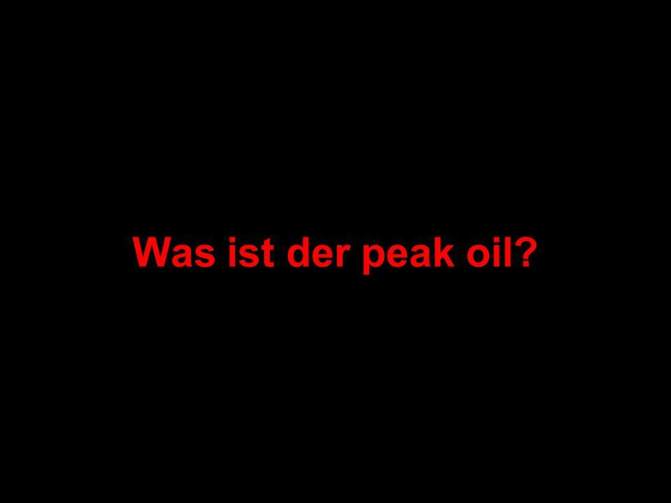 Was ist der peak oil?