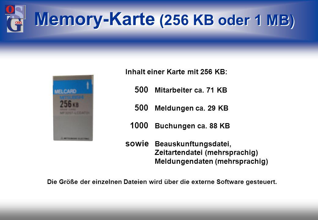 OSG 21 Beschriftungsfeld übersichtlich durch Status- lampen (z.B.