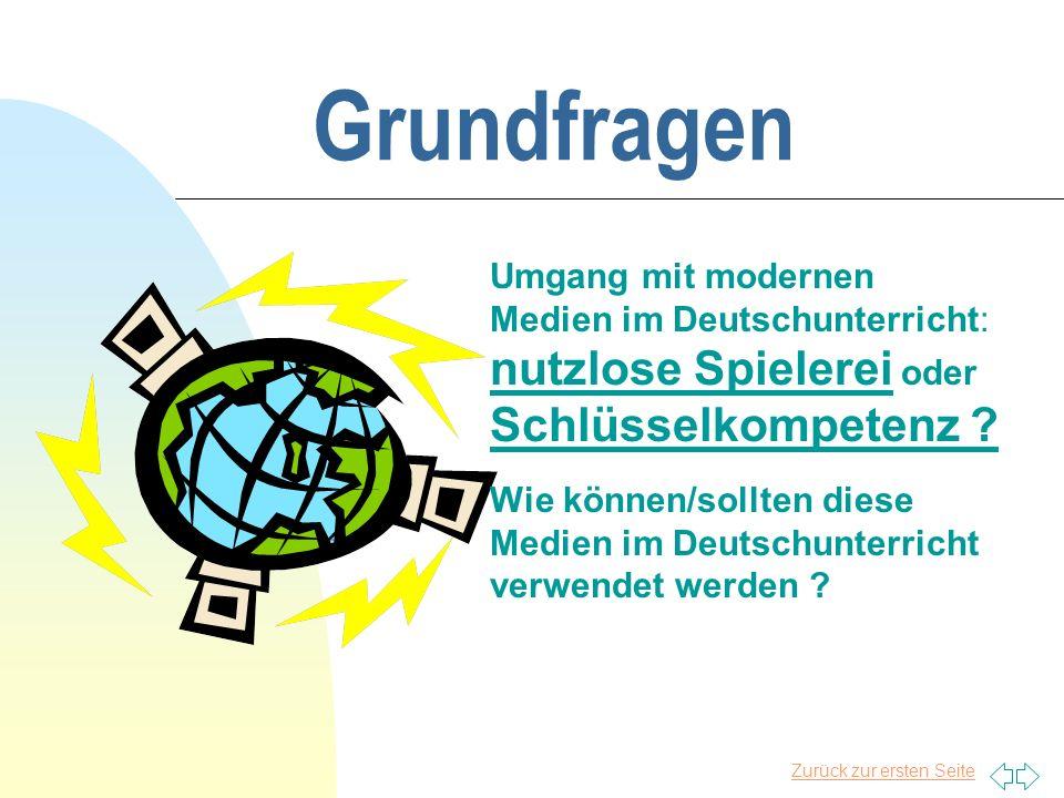 Zurück zur ersten Seite Grundwahlfach Deutsch und Computereinsatz