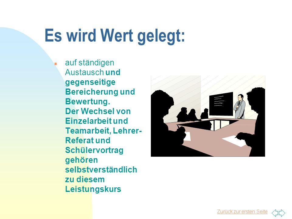 Zurück zur ersten Seite Warum gerade das Fach Deutsch .