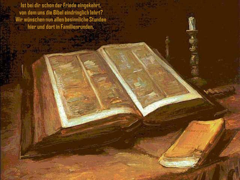 Er kam auf die Erd', um Frieden zu geben allen, die nach seinem Wort wollen leben. Jesus Christ und Friedefürst wird er genannt, hast du den Erlöser d