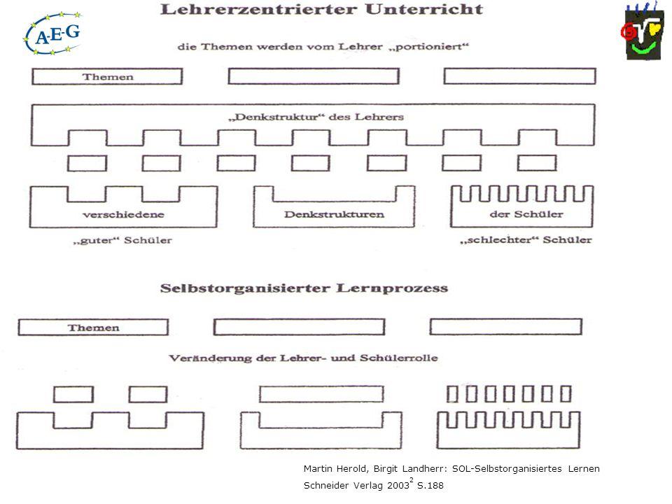 Martin Herold, Birgit Landherr: SOL-Selbstorganisiertes Lernen Schneider Verlag 2003 2 S.188