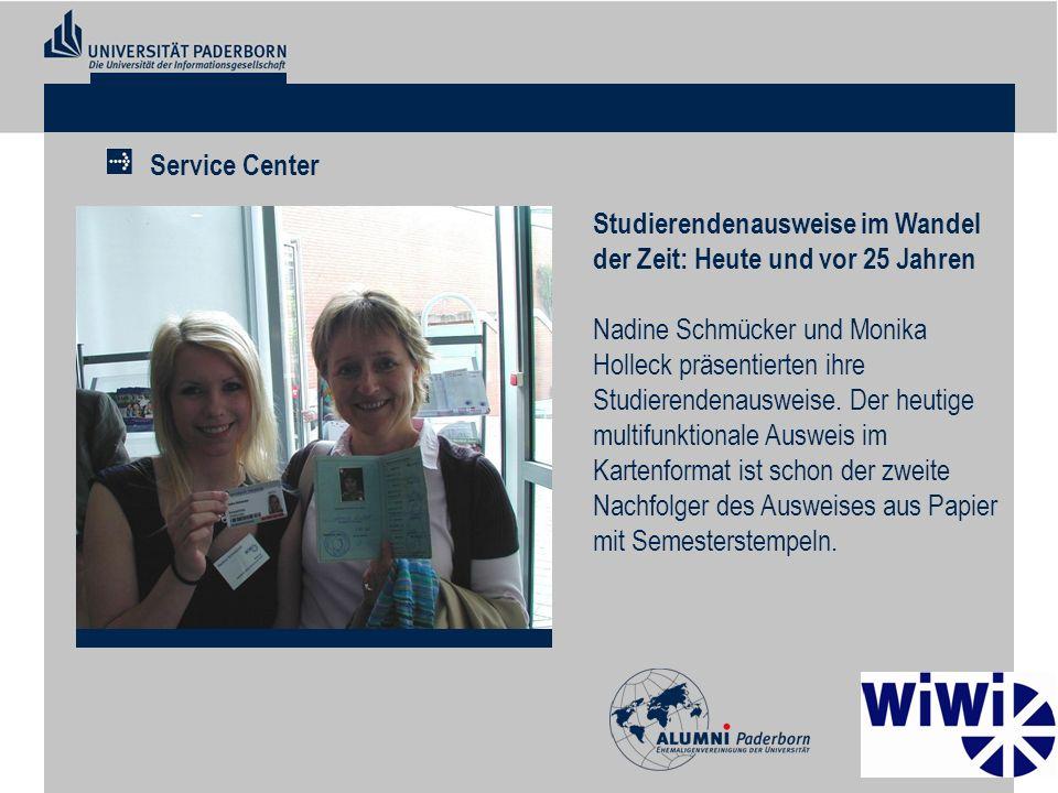 Studierendenausweise im Wandel der Zeit: Heute und vor 25 Jahren Nadine Schmücker und Monika Holleck präsentierten ihre Studierendenausweise. Der heut