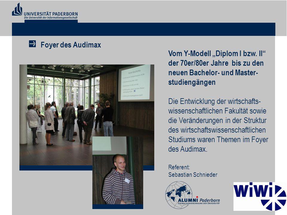 Vom Y-Modell Diplom I bzw. II der 70er/80er Jahre bis zu den neuen Bachelor- und Master- studiengängen Die Entwicklung der wirtschafts- wissenschaftli