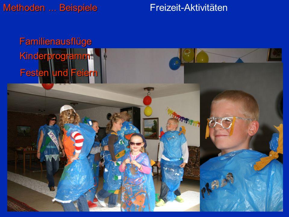 Freizeit-Aktivitäten Familienausflüge Kinderprogramm Festen und Feiern