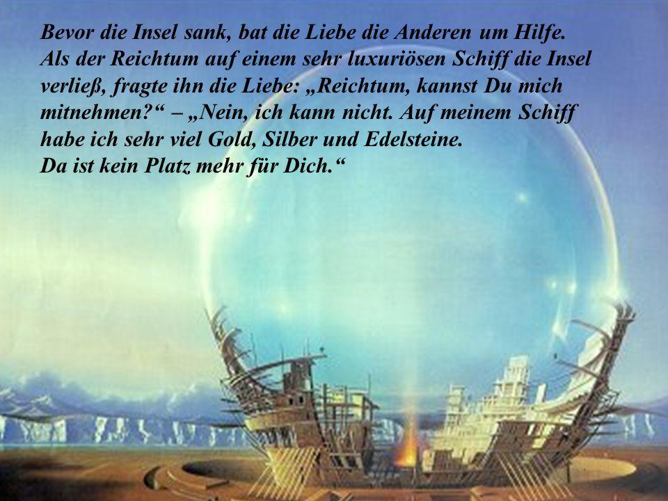 Eines Tages wurde den Gefühlen jedoch überraschend mitgeteilt, dass die Insel sinken würde. Also machten alle ihre Schiffe seeklar, um die Insel zu ve