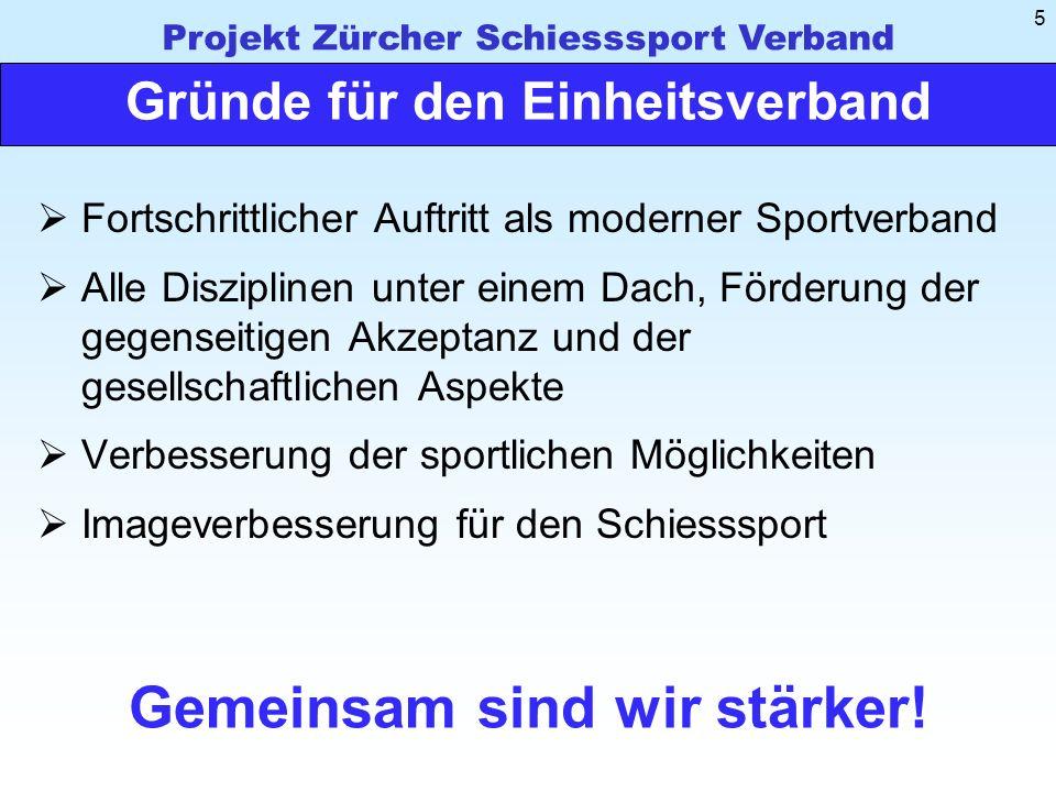 Projekt Zürcher Schiesssport Verband 16 Vorschlag für das Beitragsmodell