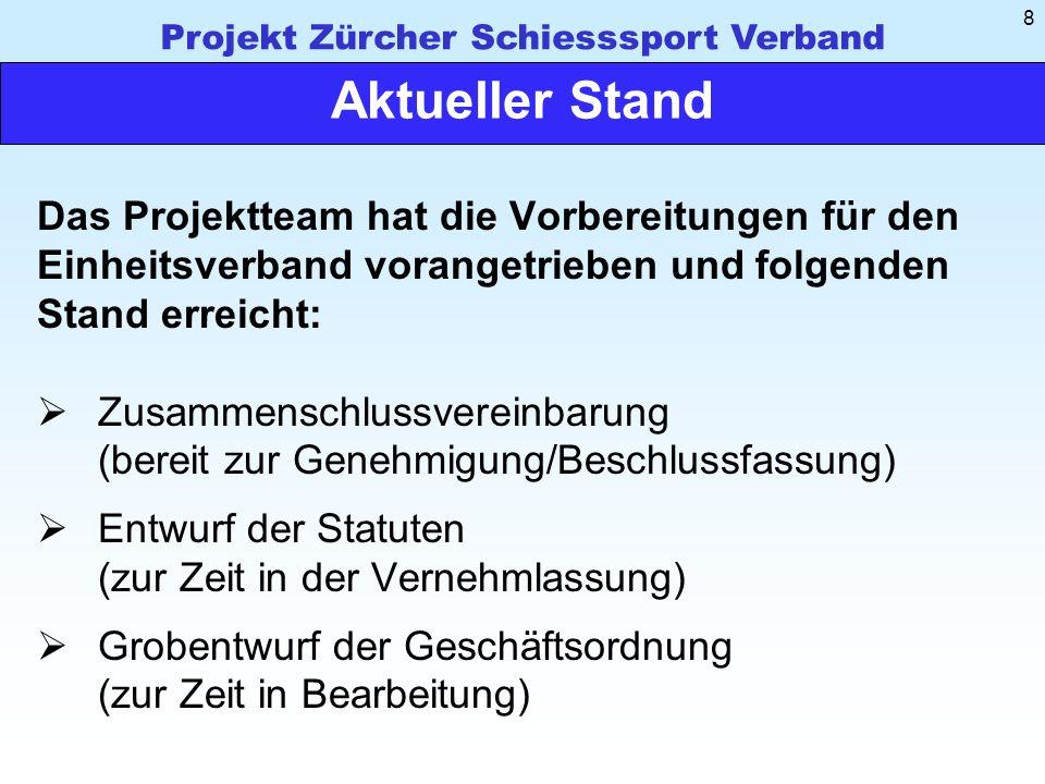 Projekt Zürcher Schiesssport Verband 29 Diskussion Fragen Verbesserungsvorschläge Anregungen Gratulationen