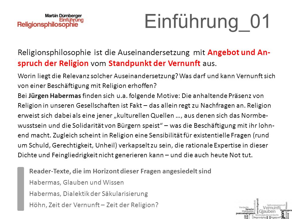 Zuordnungen_03 Ist das animal rationabile ein animal religiosum.