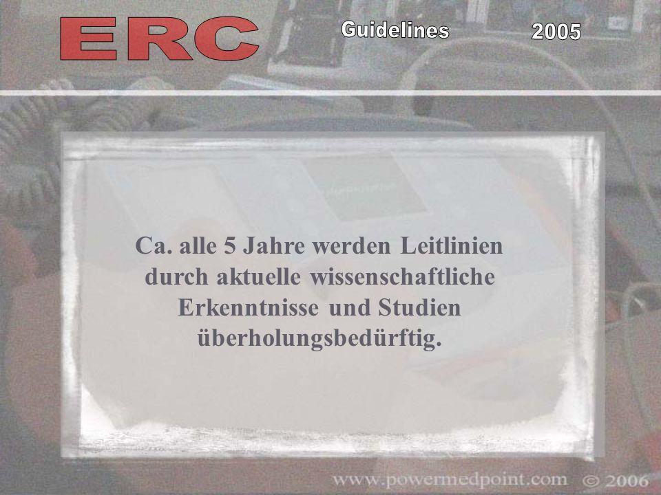 Guidelines 2005 Aktuelle Reanimationsrichtlinien International Liaison Committee on Resuscitation international