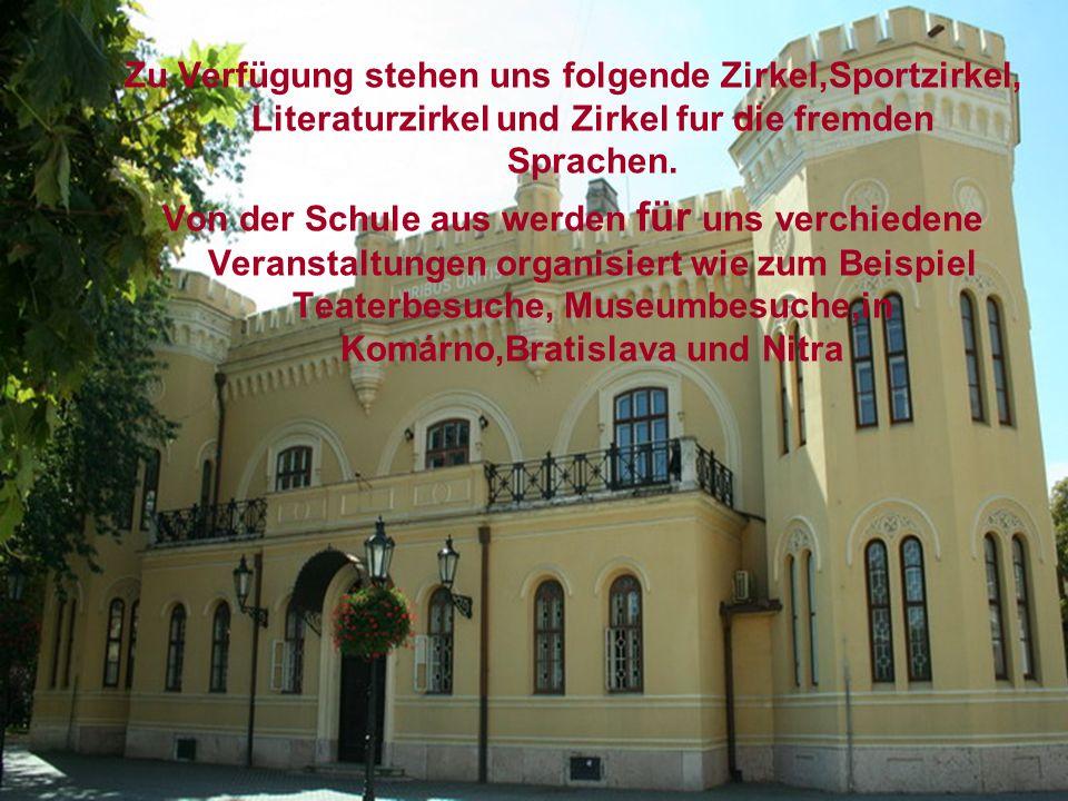 Zu Verfügung stehen uns folgende Zirkel,Sportzirkel, Literaturzirkel und Zirkel fur die fremden Sprachen.