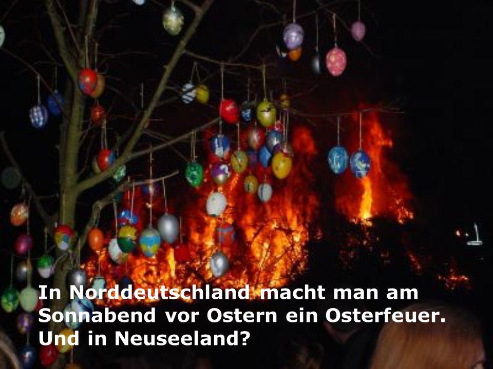 In Norddeutschland macht man am Sonnabend vor Ostern ein Osterfeuer. Und in Neuseeland?
