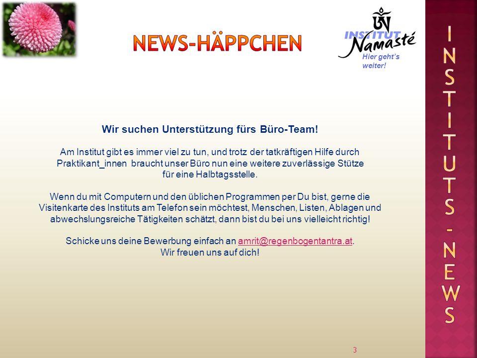 3 Wir suchen Unterstützung fürs Büro-Team! Am Institut gibt es immer viel zu tun, und trotz der tatkräftigen Hilfe durch Praktikant_innen braucht unse