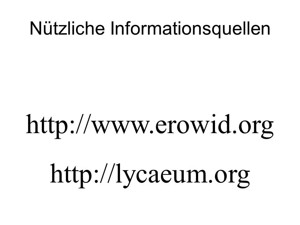 Nützliche Informationsquellen http://www.erowid.org http://lycaeum.org