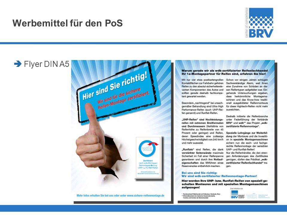 Werbemittel für den PoS Flyer DIN A5