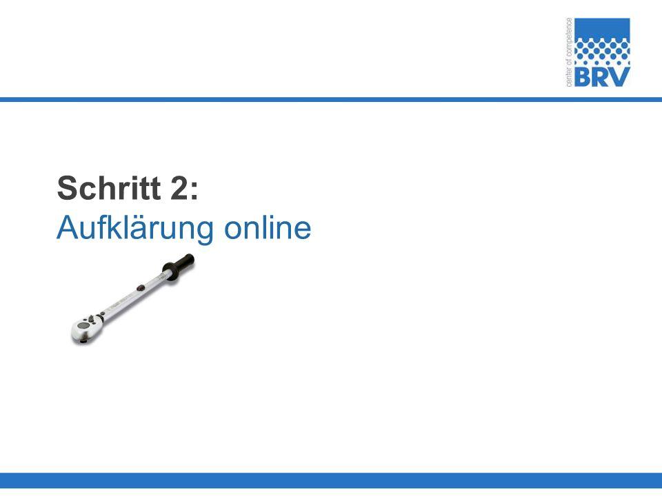 Schritt 2: Aufklärung online
