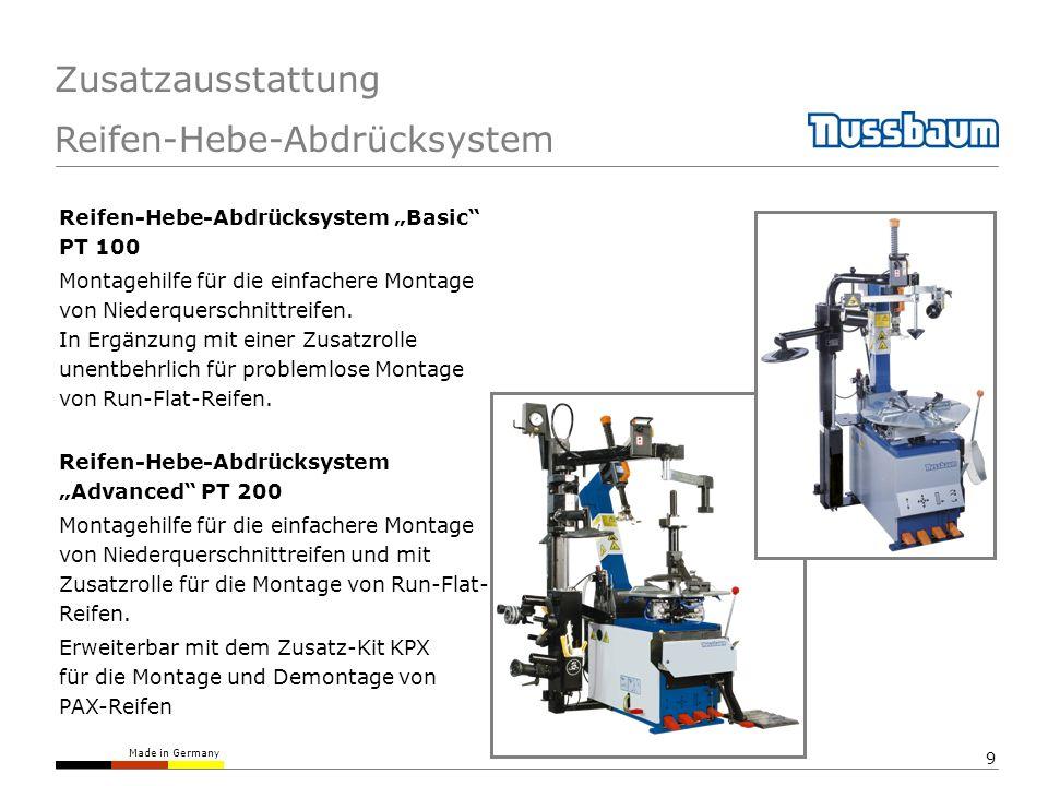 Made in Germany 9 Zusatzausstattung Reifen-Hebe-Abdrücksystem Reifen-Hebe-Abdrücksystem Basic PT 100 Montagehilfe für die einfachere Montage von Niede