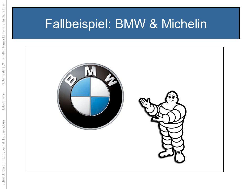 Fallbeispiel: BMW & Michelin Schneck, Martin | Kohn, Daniel | Figueroa, LuisE-Business3.Semester | Wirtschaftsinformatik | Fachhochschule Trier