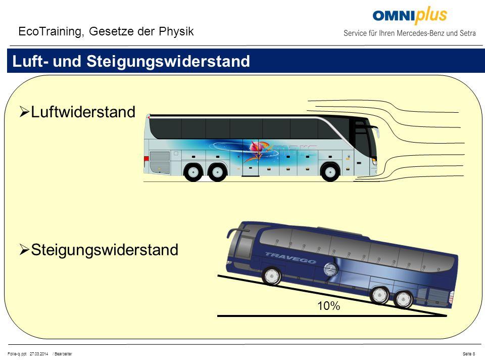 Folie-q.ppt 27.03.2014 / BearbeiterSeite 29 EcoTraining, Kupplung Immer im ersten Gang anfahren.