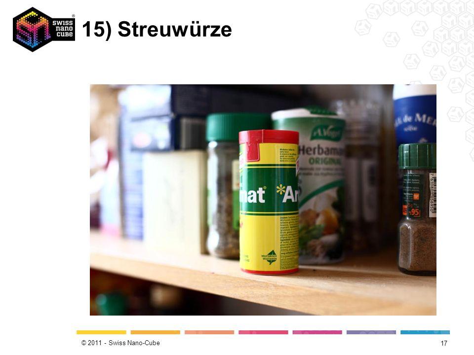 © 2011 - Swiss Nano-Cube 15) Streuwürze 17