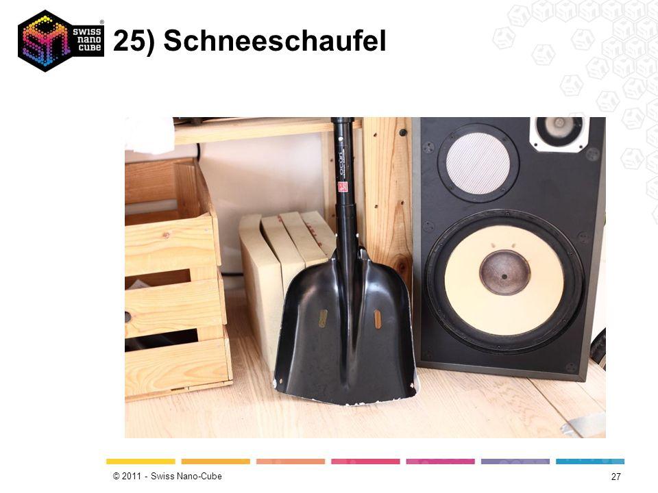 © 2011 - Swiss Nano-Cube 25) Schneeschaufel 27